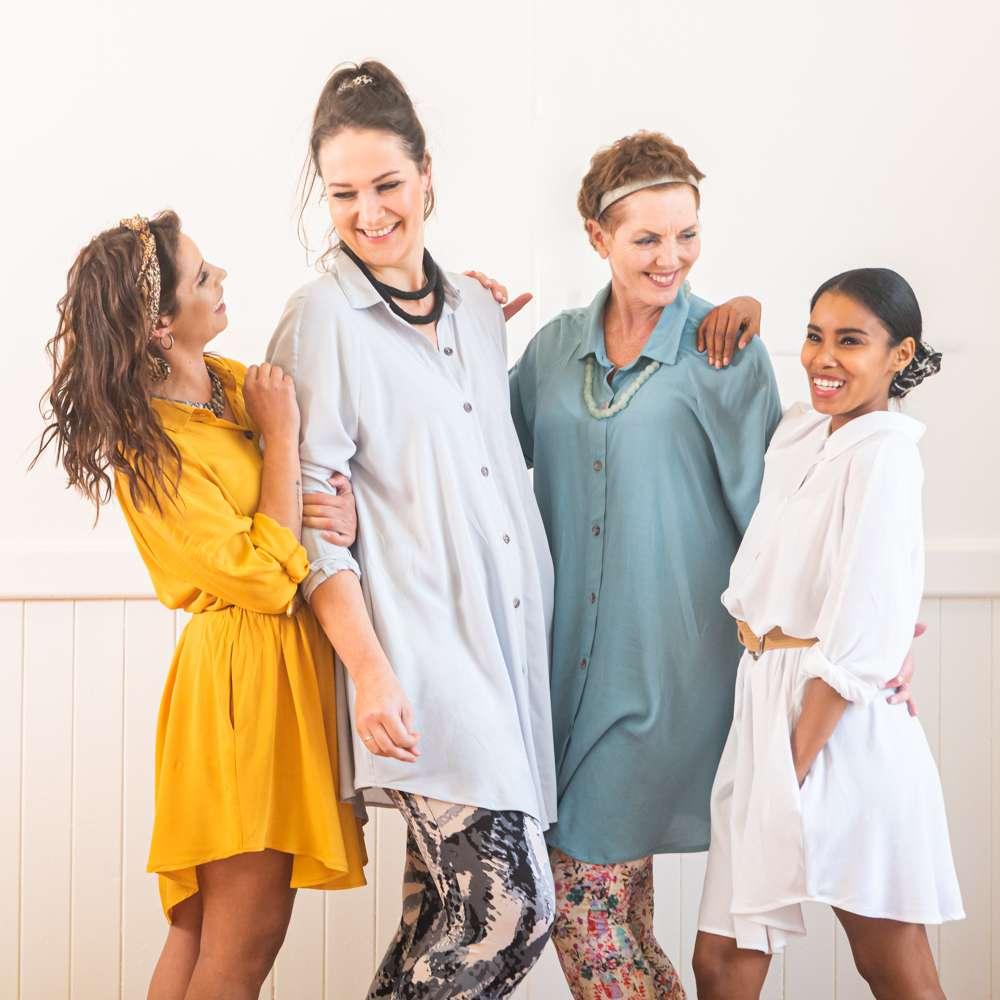 Weiss Swingshirt Fashion Shoot